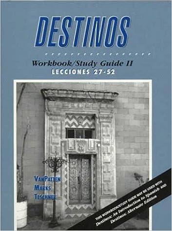 Destinos - Learn Spanish Online
