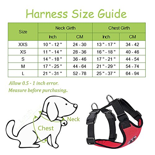 Slowton Dog Car Harness Plus Connector Strap, Multifunction Adjustable Vest Harness Double Breathable Mesh Fabric with Car Vehicle Safety Seat Belt