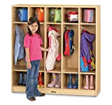 MapleWave 2681JC011 5 Section Coat Locker