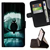 - Totoro - - Wallet Pu Leather Credit Card Holder Pouch Case Cover FOR Samsung Galaxy S4 IV I9500 RetroCandy