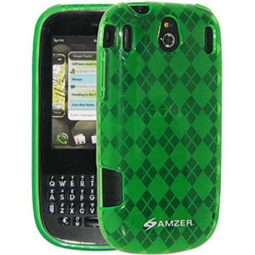 Amzer Luxe Argyle Skin Screen Protector Case for Palm Pixi - Green