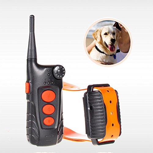 Aetertek® AT-918C-1 Updated & Submersible Dog Training Shock Collar Rechargeable Dog Collar with 600 Yards Remote Range (For 1 dogs)