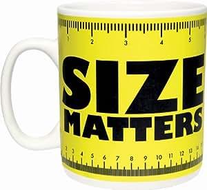 Paladone Taza gigante con texto Size matters, color amarillo
