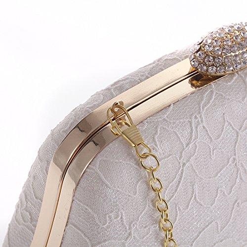 SSMK Evening Bag - Cartera de mano para mujer blanco