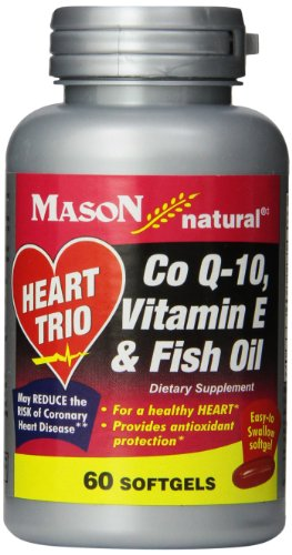 - Mason Natural Vitamin, Co Q-10, Vitamin E and Fish Oil, 60 Softgels