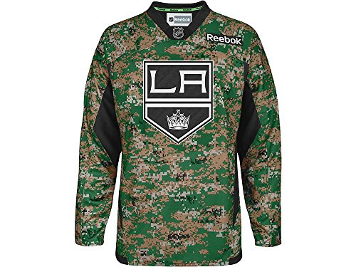 Los Angeles Kings Reebok NHL 2013 Edge Camouflage Pre-Game Warm Up Jersey (Los Angeles Kings Reebok)