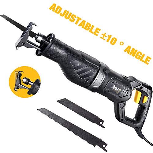 - Professional Reciprocating Saw, TECCPO 120V 9Amp 1-1/10