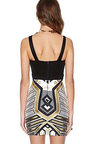 COSIVIA Robe Femme Robe Bodycon Sans manches Robes de soirée sexy Backless Cutout Bodycon Dress , Taille M/L