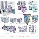 Bacati-Isabella-Paisley-Girls-10-Piece-Nursery-in-A-Bag-Crib-Bedding-Set-with-Bumper-Pad-LilacPurpleAqua