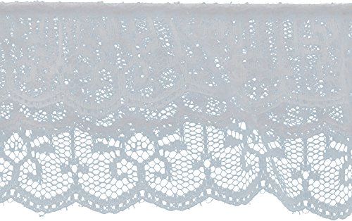 Decorative Trimmings 20150-8-010Y-114 3 Tiered Ruffled Lace Trim, 2-1/2