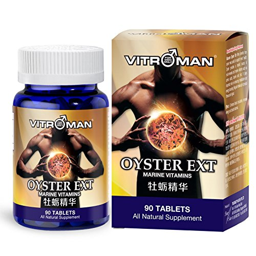 Vitroman Oyster Ext Male Performance Pills - Potent Vitamins Testosterone Booster for Muscle Building Growth Energy Stamina and increase sperm quantity and quality health supplements for Men