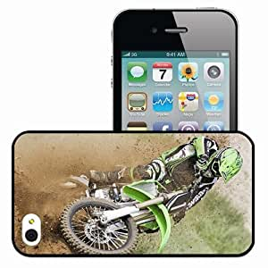 Personalized iPhone 4 4S Cell phone Case/Cover Skin Motocross Black