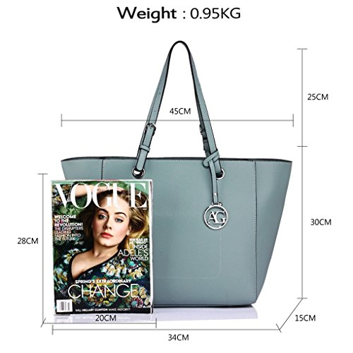 Charm Designer Celeb Fashion Bags Tote LeahWard Women Blue 350 Clearance Ladies Bag Shopper Shoulder Handbag A4 Style Ladies Ag Sale For w4ROq8