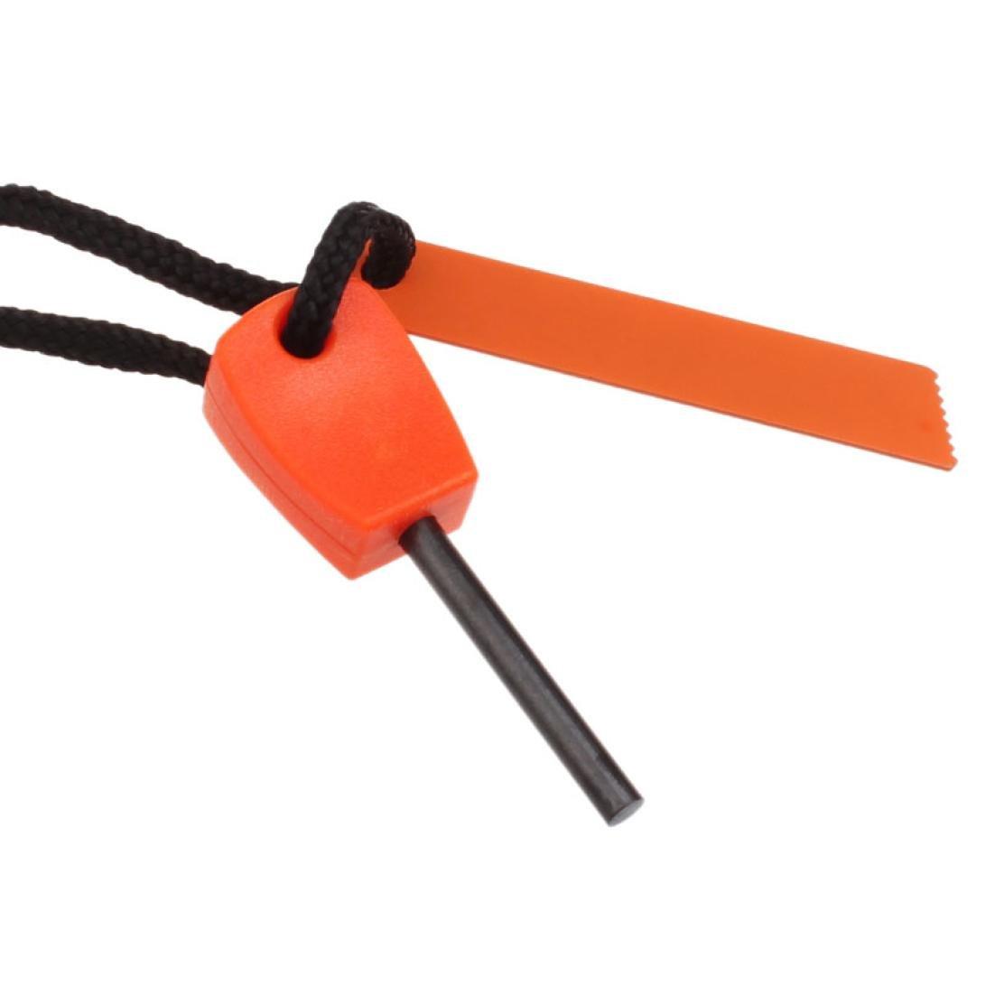 Yoyorule Outdoor Survival Magnesium Flints Scraper Stone Fire Starter Lighter (Yellow)