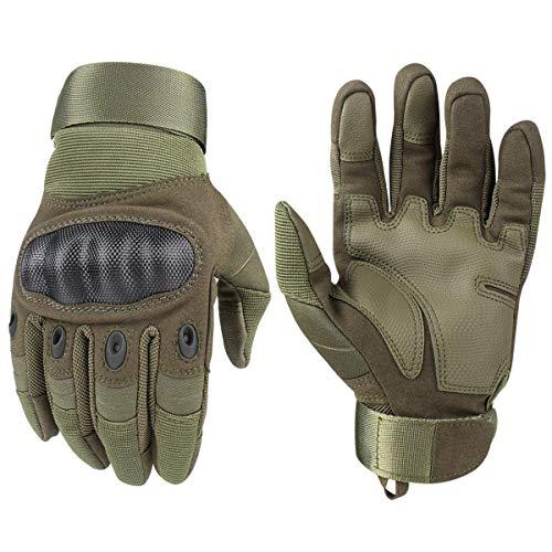 Avril Tian Gants, tactique militaire Armée en caoutchouc rigide Knuckle extérieur Full Finger Gants pour écran tactile… 1