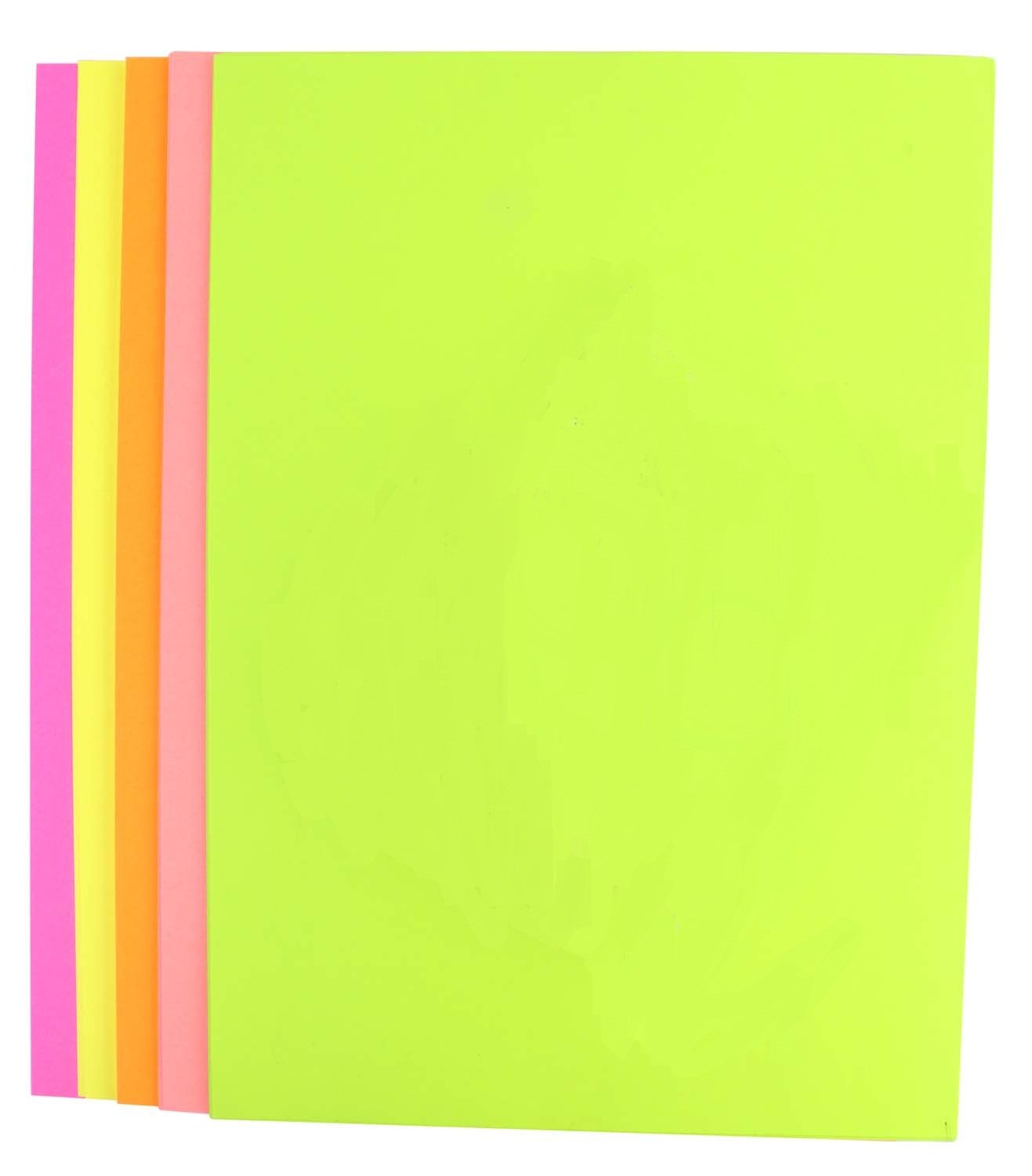 pigloo double sided a4 fluorescent neon paper for art u0026 craft