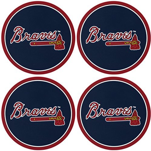 Duck House Atlanta Braves Coaster Set - 4 Pack - Collectible Coasters