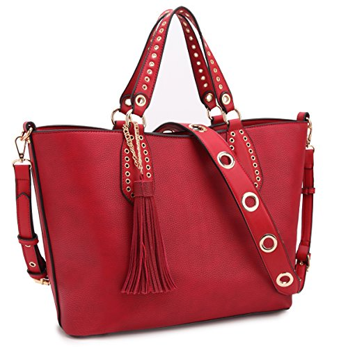 DASEIN Women Leather Tote Shoulder Bags Satchel Handbags Large Laptop Purses