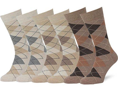 - Easton Marlowe Men's Classic Cotton Argyle Dress Socks - 6pk #2-5, Wheat/Sand/Taupe melange, 43-46 EU shoe size