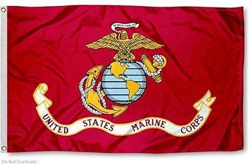 3 x 5 Marines Marine Corps EGA Flagge 3 & 039;x5& 039; Banner Tüllen (von USMC) doppelt genähte 2 Metall eyelits von rfco