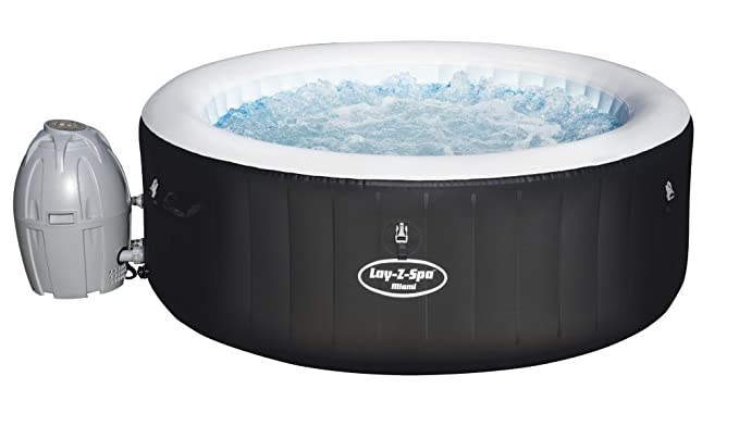 BESTWAY 8320115 Piscina Spa Miami 4 personas Ø180x65 cm.: Amazon.es: Jardín