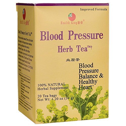Health King Blood Pressure Herb Tea, Teabags, 20 Count Box