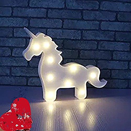 Unicornio LED Iluminación infantil nocturna Luces nocturnas Luces de estado de ánimo Lámparas Enfermería Cuarto del bebé Decoración Luces de escritorio ...