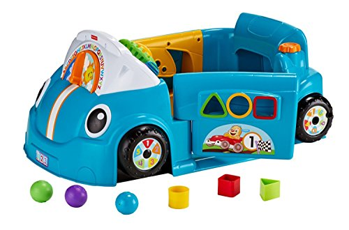 Fisher-Price Laugh & Learn Smart Stages Crawl Around Car, Blue (Best Fisher Price Toys For 2 Year Old)