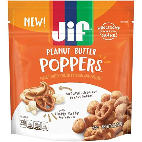 Jif Peanut Butter Poppers - Resealable Bag - Peanut Butter (Pack of 20) by Generic (Image #1)
