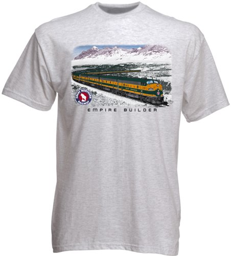 Great Northern Empire Builder T-Shirt Adult XXX-Large [10112] Gray