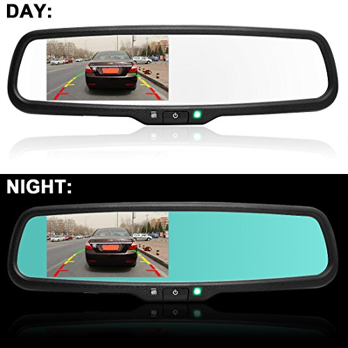 autowings a h9299db 4 3 inch auto dimming car rear view mirror monitor 800 480 resolution screen. Black Bedroom Furniture Sets. Home Design Ideas