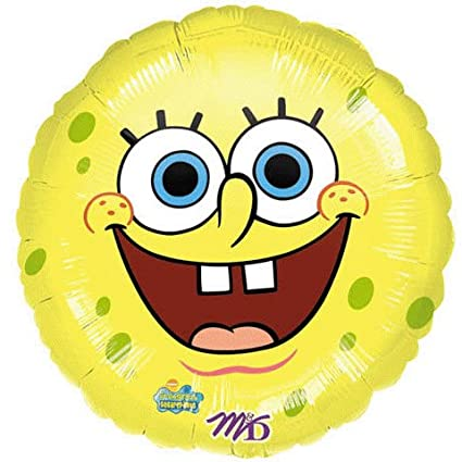 Amazon.com: Amarillo Bob Esponja cara sonriente 18