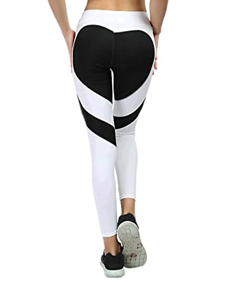 22a527861 Womens High Waist Push Up Workout Leggings Love Shaped Fitness Sports Gym  Running Stretch Yoga Pants