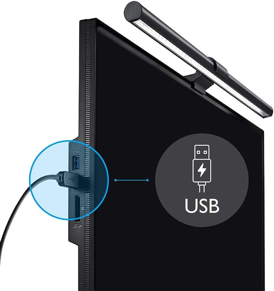 BenQ ScreenBar Plus ディスプレイUSB給電で配線スッキリ