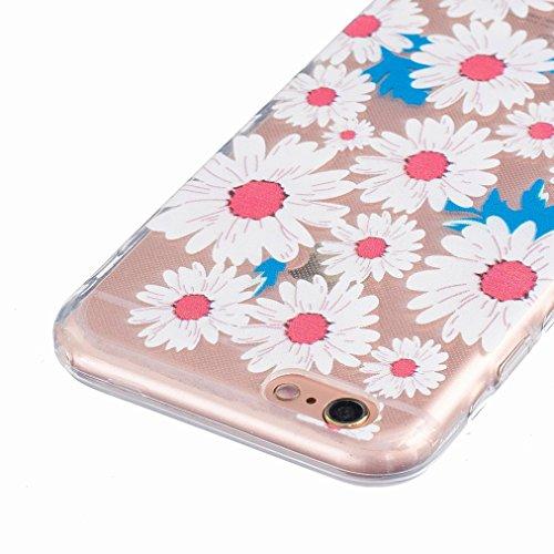 Ougger Apple iPhone 6s 4.7 Custodia Case, Antigraffio Trasparente Cristallo Durevole Slim Morbido TPU Gomma Silicone Flessibile Protettivo Skin Shell Bumper Rear (Modello 8)