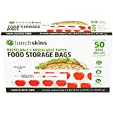 Lunchskins Sealable Paper Sandwich & Snack Bags, Apple, 50 Count Box