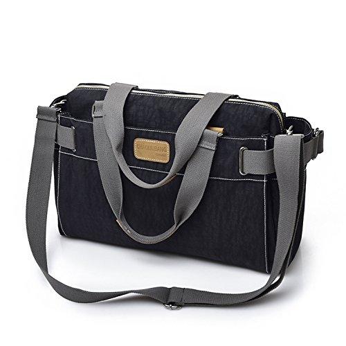 MeCooler Bolsos de Moda Bolso Bandolera Mujer Bolsas Grandes Messenger Bag para Escolares Sport Bolso de Mano Negro
