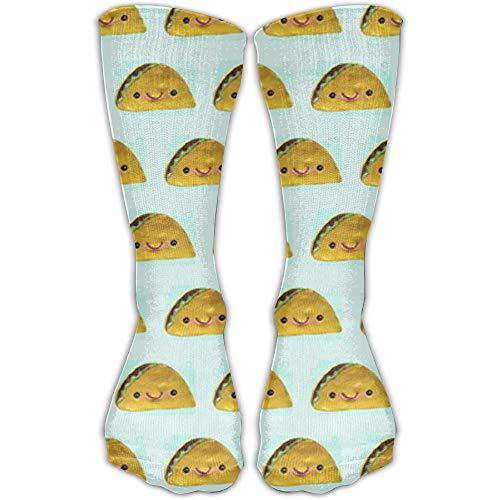 YUANSHAN Socks Tacos Everywhere Pattern Women & Men Socks Soccer Sock Sport Tube Stockings Length 11.8Inch -