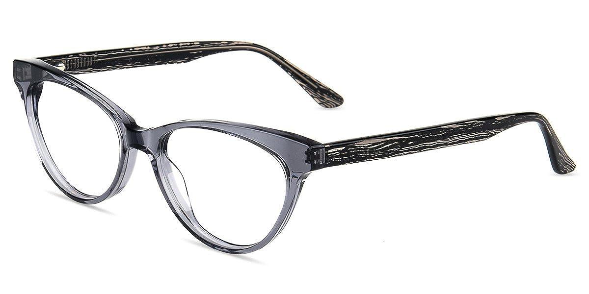 cbdbea2eec Amazon.com  Firmoo Anti Blue Ray Computer Glasses for Anti  Eyestrain Headache Glare UV with Vintage Cateye Grey Plastic Frame for  Women  Clothing
