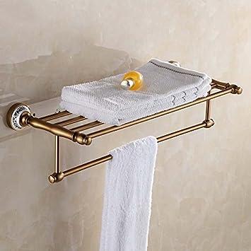 Estante para toallas Estante para toallas Estante para torres para toallas Espacio Aluminio Decoración antigua Accesorios de baño: Amazon.es: Hogar