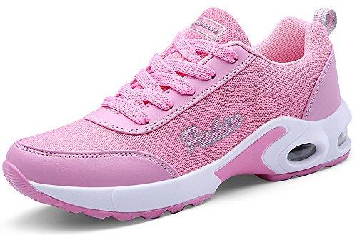 GR Atmungsaktiv Sportschuhe Turnschuhe Damen mit Farben 35 5 Rosa Sneaker SEECEE Laufschuhe 42 AUqxw6