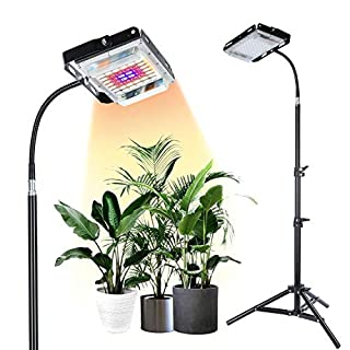 SUNICO LED Grow Light Full Spectrum 150W,7000 lx with Stand for Small and Tall Indoor l Plants Growth, Standing Floor Grow Lamp for Greenhouse Gardening,Adjustable Tripod Stand 15-47 inches