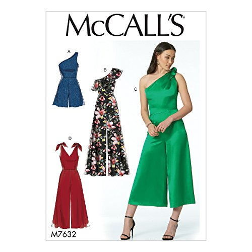 - McCall's Patterns M7632A50 Misses' Romper and Jumpsuits with Shoulder Options Sewing Pattern, A5 (6-8-10-12-14)