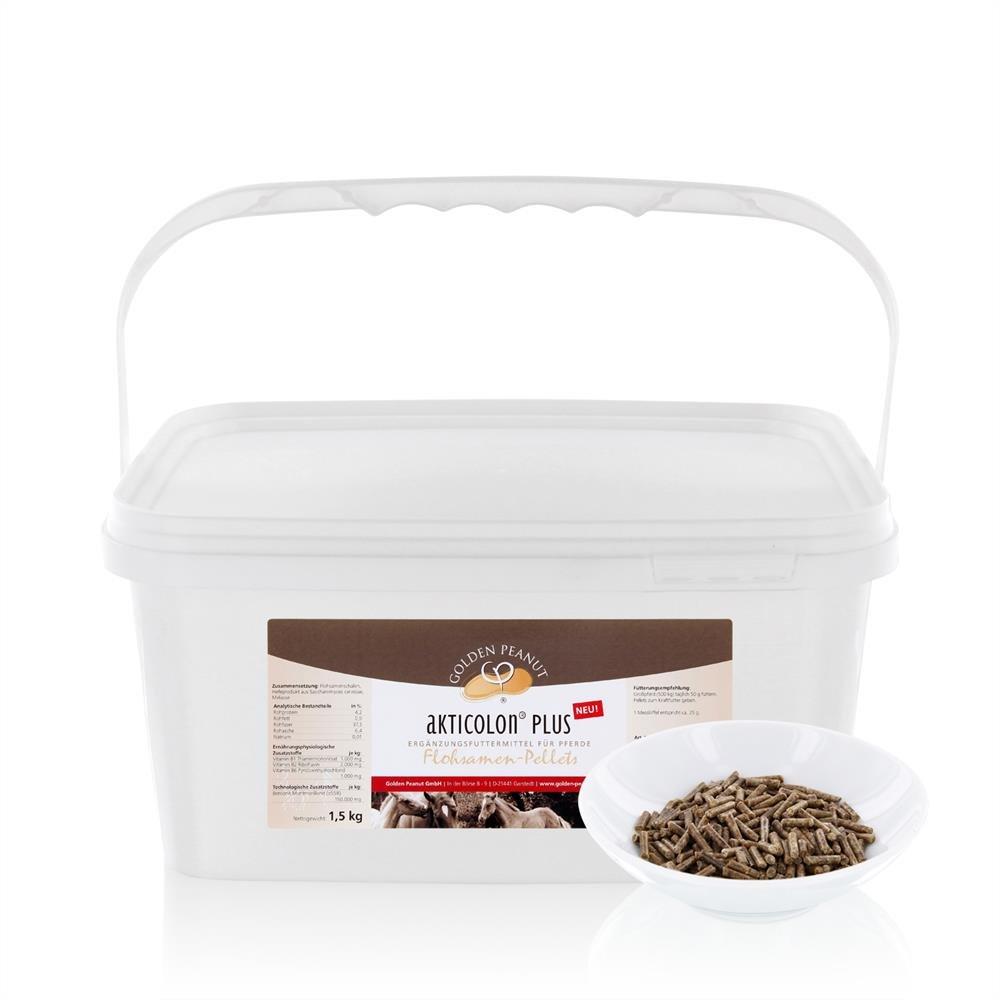 1,5 kg Akticolon PLUS Flohsamenpellets Prebiotic Bentonit Vitamin B Komplex Golden Peanut