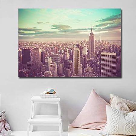 Haotong11 New York Bâtiment Peinture Personnalisé Mur Art