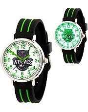 KIDDUS Educatief Kinder Horloge voor Jongens en Meisjes. Analoog Time Teacher Polshorloge met Oefeningen, Japanse Quartz-Mechanisme, Designed om te Helpen de Tijd te Leren