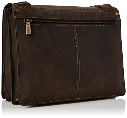 Brown Hunter Visconti m Leather Oil Messenger Bag kindle body Ipad Cross Harvard 16025 qwq7TOR