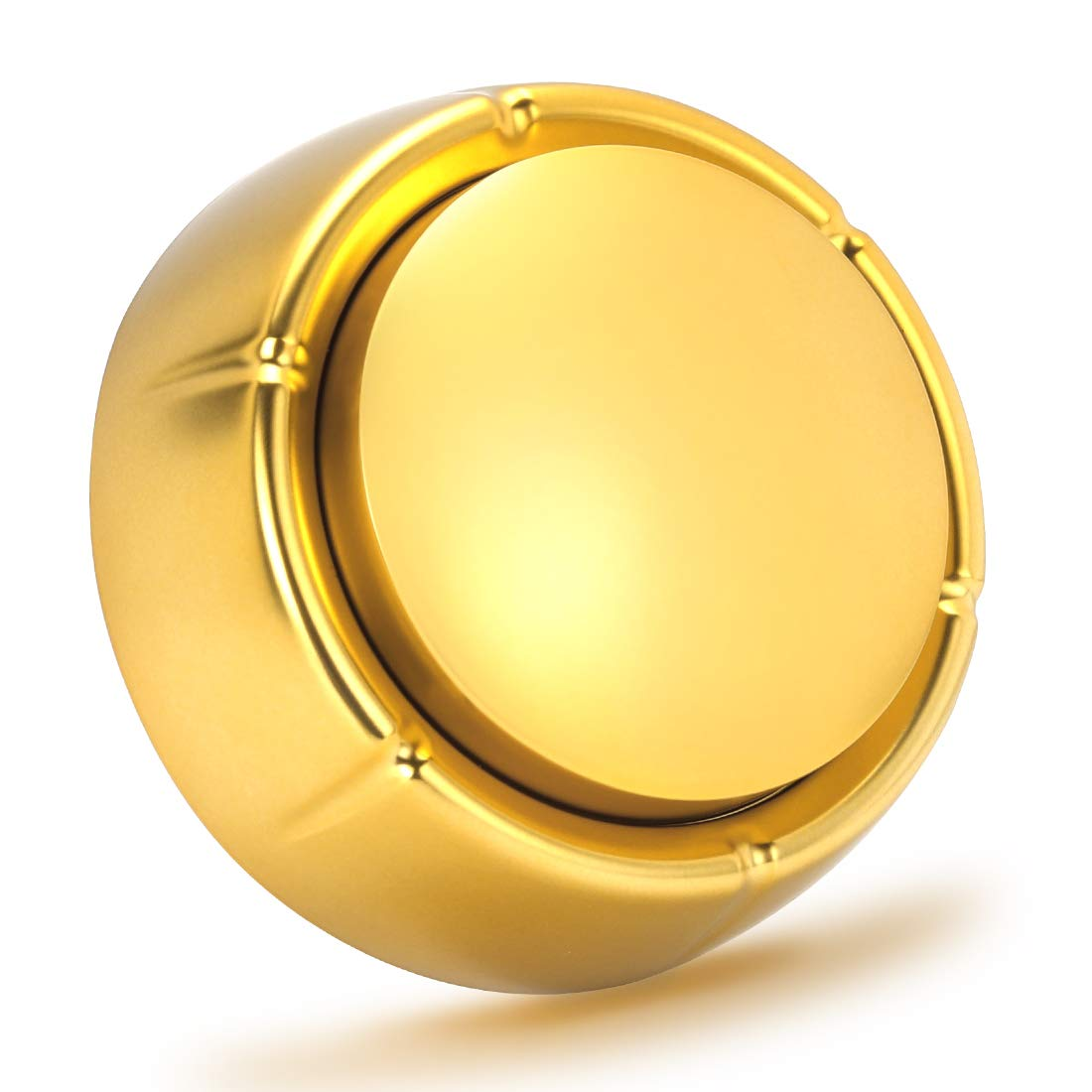 Cover Easy Button Recordable Sound Talking Button Custom Office Desk Gag Gift 30 Seconds 2 AAA Batteries Included - Newest Color- Gold