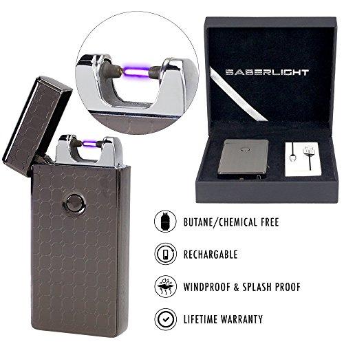 SaberLight-Revolutionary-Flameless-Plasma-Beam-Lighter-Rechargeable-Airport-Safe-Butane-Free-Flameless-Splash-Proof-Windproof-No-Harmful-Chemicals-Lifetime-Warranty