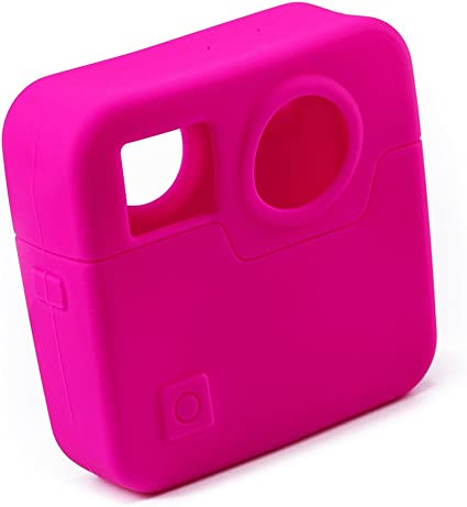 Rosy Color LEDMOMO Silicone Protective Housing Cover Case Full Body Protective Cover Skin for GoPro Fusion Action Camera